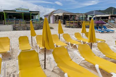 Beach chairs. Beach cafes.