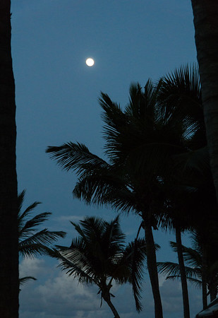 Moonrise, St. Martin.