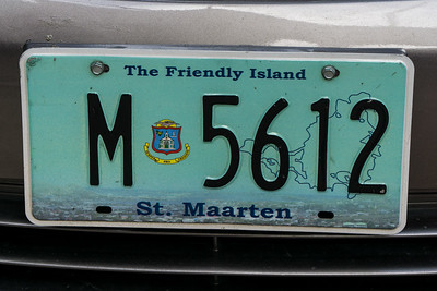 Another St. Martin license plate.