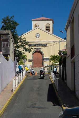 Church in a Marigot side street.