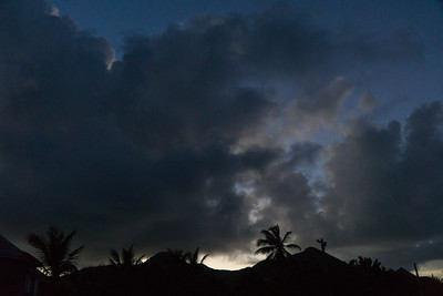 Dramatic sunset on St. Martin.