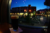 A glass of Guinness at Tony Roma's, overlooking Banff Ave.