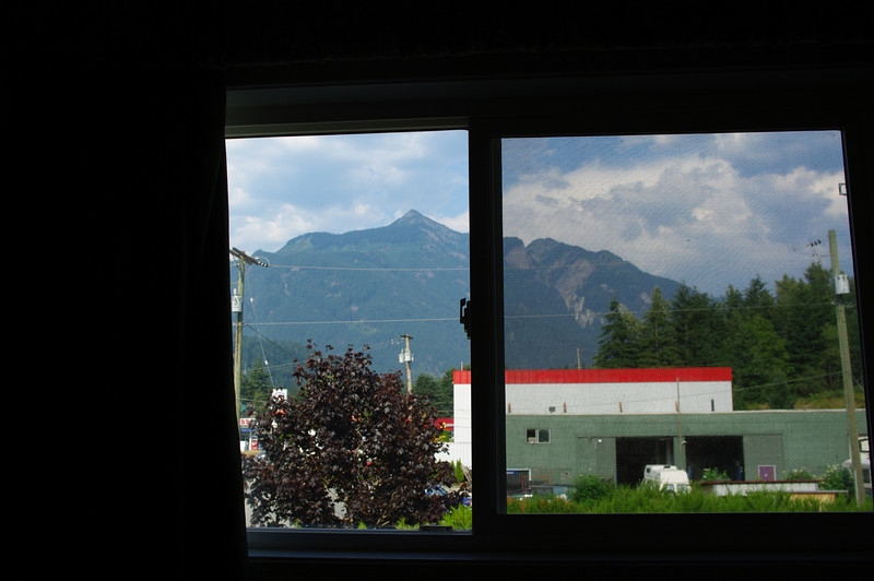Our hotel was nothing special, but was clean and reasonably priced. At least part of the view from the window was good.