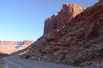 1/16/07 - Another view of UT-128 along the Colorado River.