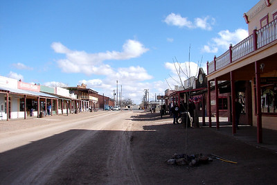1/13/07 2:08PM - Tombstone, Arizona looking south.  A bit too today chilly for those parts, so not many tourists wandering up and down the streets.