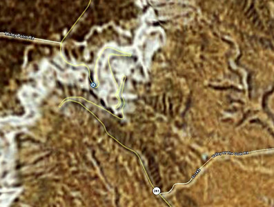 1/15/07 - This satellite view of the Dugway illustrates the twists and turns, and connects them better than can be done from the ground.