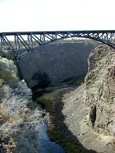 10/15/01 - Railroad bridge over the Crooked River near Terrebonne, Oregon.