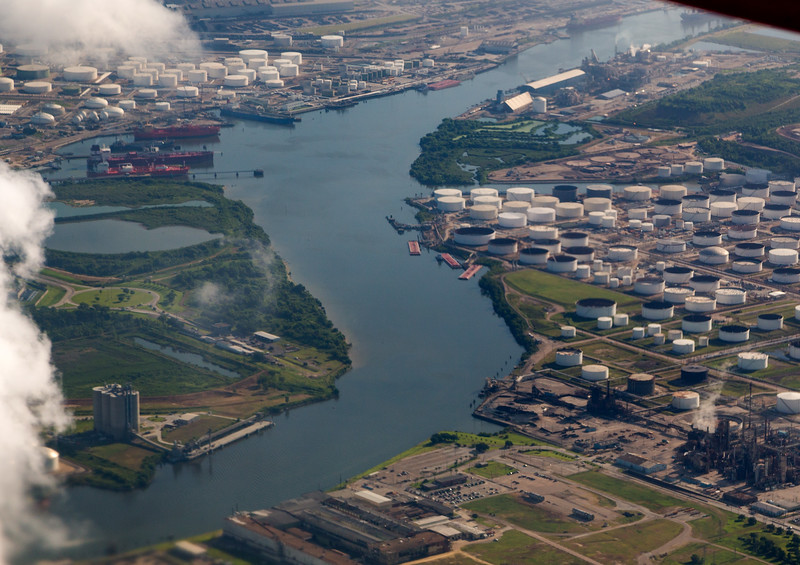 The Houston Ship Channel, just outside I-610 East.