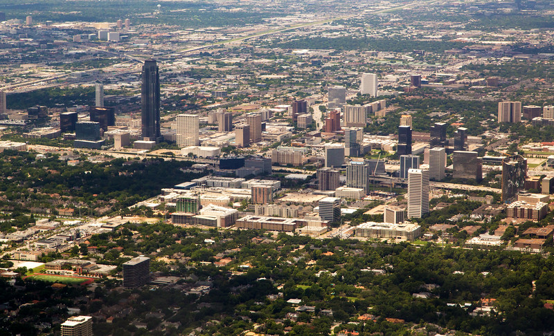 """Houston's East Loop, including Williams (pronounced """"Transco"""") Tower"""