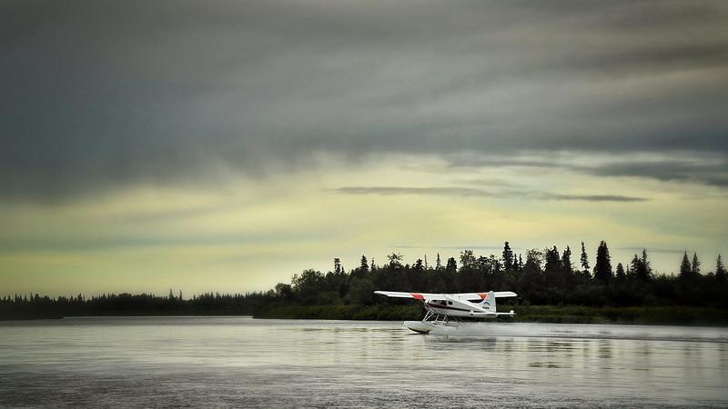 DeHavilland Beaver DHC-2 taking off from the Nushagak River.