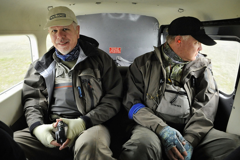 Dennis and John on the flight back to the lodge from aboard a de Havilland Beaver.