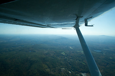 Flying from Nashua to Rutland, VT, over southern NH.