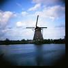 Kinderdijk with the Diana.