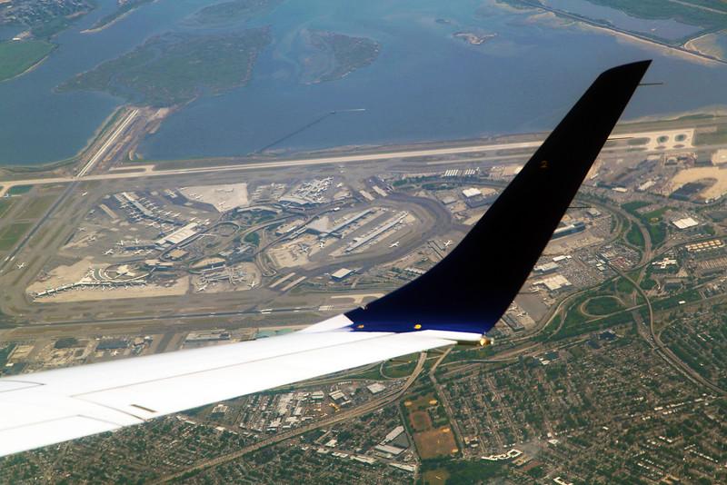 Circling in on JFK Airport below