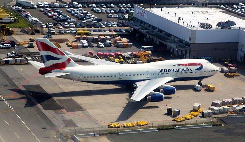 A British Airways Boeing 747 at JFK Airport