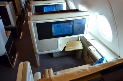 Business class seat.
