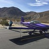 The little airstrip at Agua Caliente is right up against some hills, so you land on 29 and depart on 11. One other airplane on the ramp. An easy half mile hike to the campgrounds.