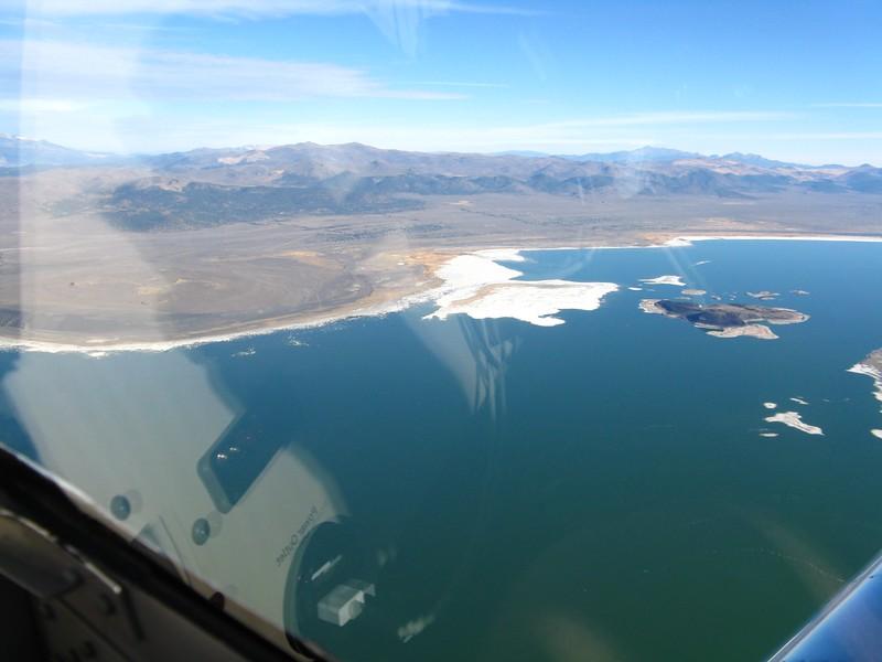 Mono Lake looking a bit low on water.