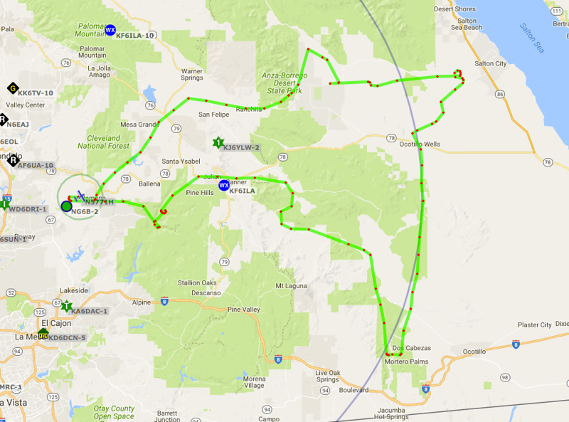 This is the tracks of our sightseeing tour. 1.6 hours logged going mostly low and slow.