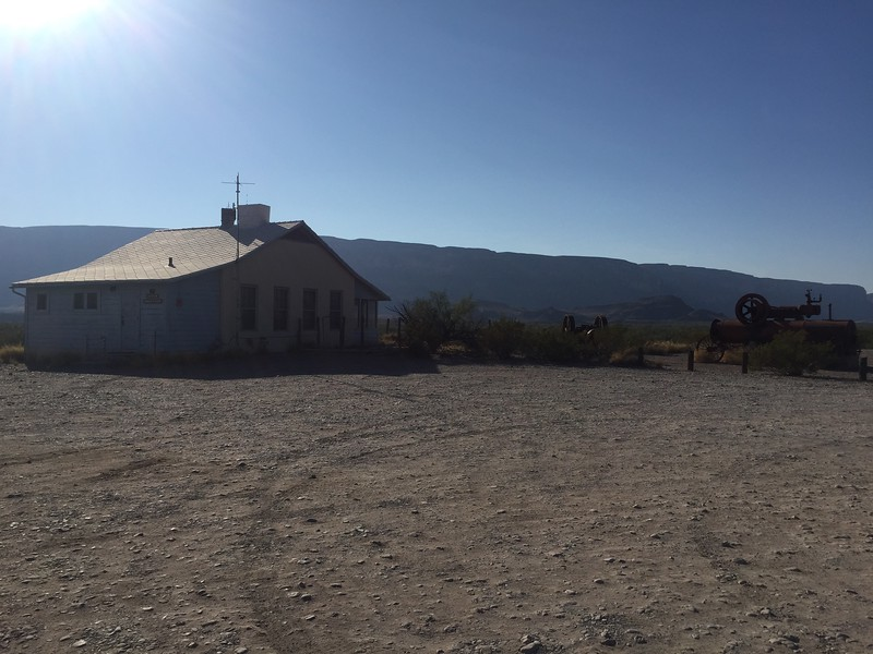 There were a number of old buildings and mining equipment here.