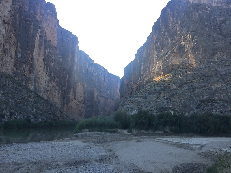 The trail stays on the right side and goes up some switchbacks, then into the canyon.