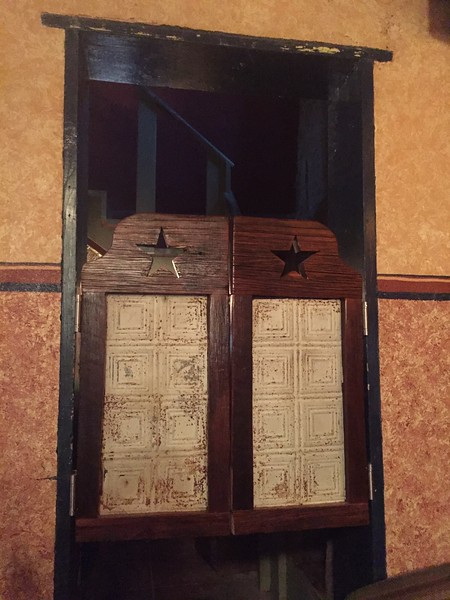 It wouldn't be a bar in the west without some swinging doors.