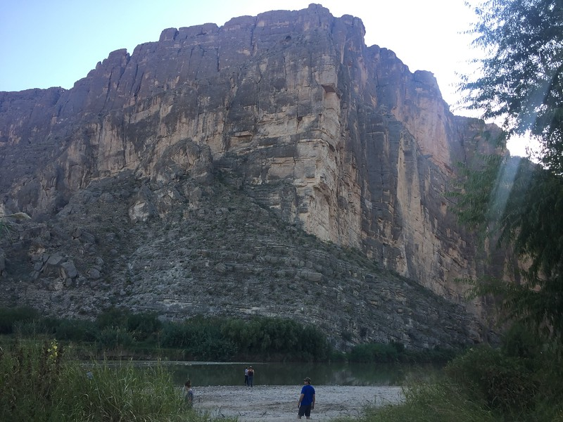 We hiked down towards the river and into the canyon.