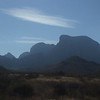 Looking back west to the Chisos mountains.