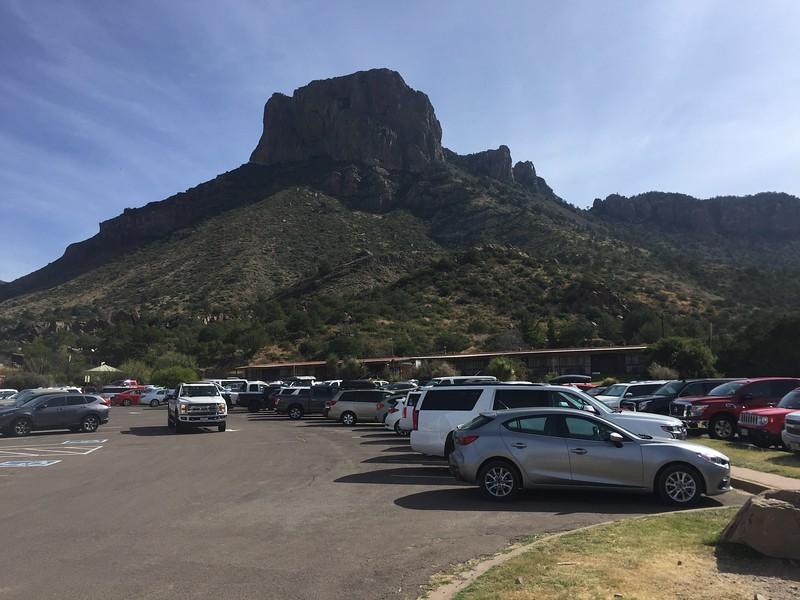 We parked at the Mountain Lodge and looked at the Visitor Center. This mountain is called Casa Grande.