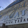 We were starving from our long travels, so we headed into the Terlingua Ghost town area and had dinner at the Starlight Theatre.