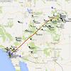 The trip out to Boulder via Page, AZ.