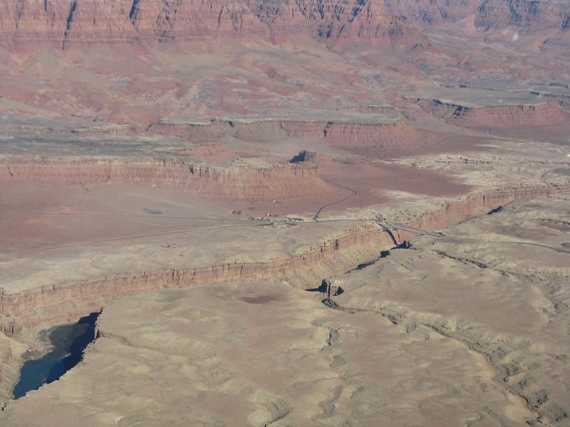 Navajo Bridge and Marble Canyon airstrip.
