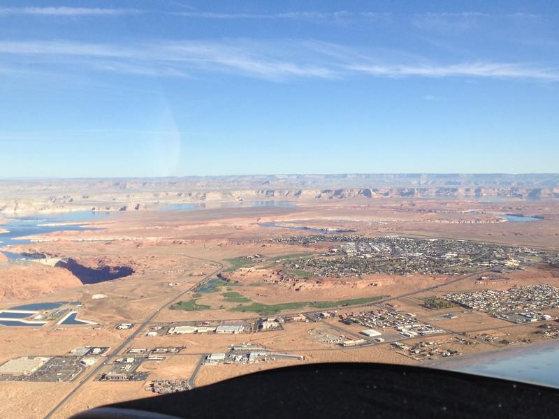 Glen Canyon Dam and Page, AZ.