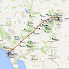 The APRS track from our return flight from Boulder to Ramona.