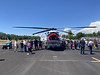 The Cal Fire helicopter drew quite the crowd. It sits really high to handle the water tank under the belly.