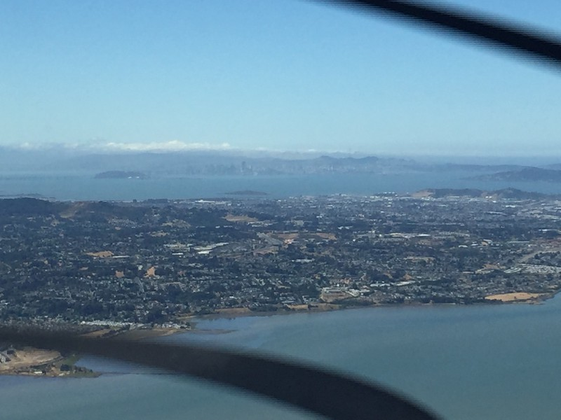 SF in the distance. Richmond in the middle.