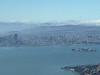 SF and Alcatrez Island on the right.