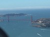 Golden Gate bridge totally clear. The fog bank is way off shore.