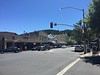 Main street in Calistoga is very beautiful.