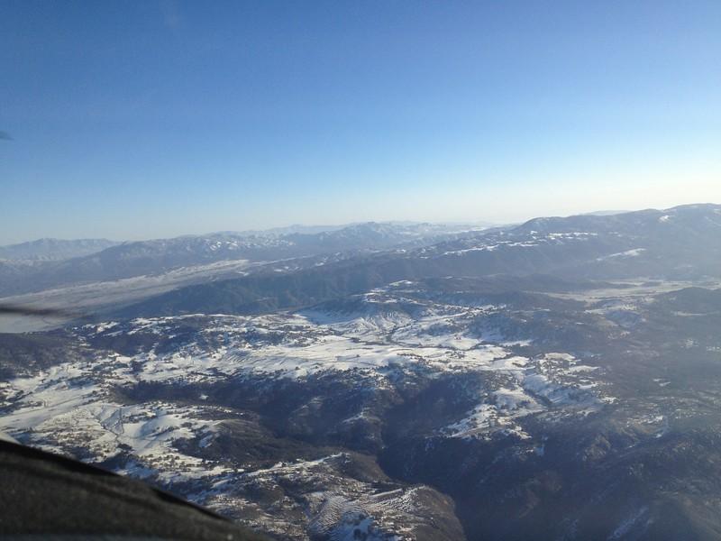 Ramona backcountry near Mesa Grande was all snowy.