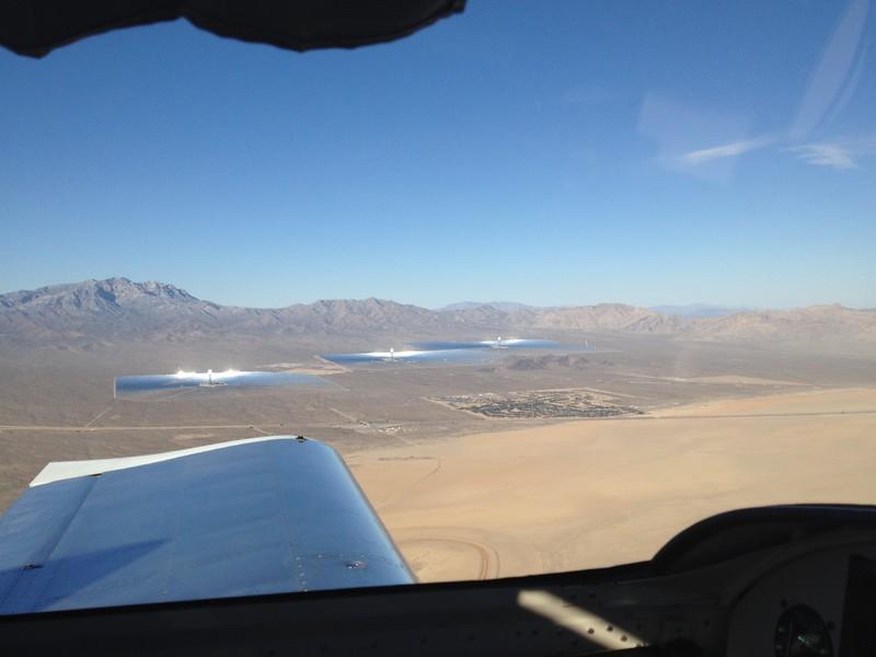solar farm approaching Jean, NV.