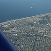 Surf City, Huntington Beach pier from 8500'.