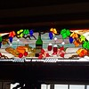 Stained glass in the tasting room at Eberle.