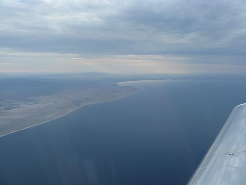 We flew from Ramona over Salton Sea.