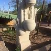 Sculpture in the gardens.