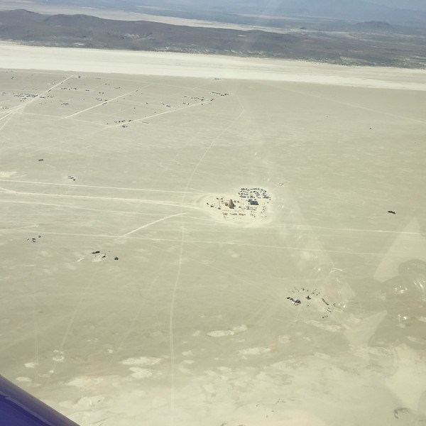 The temple area beyond the burning man statue.