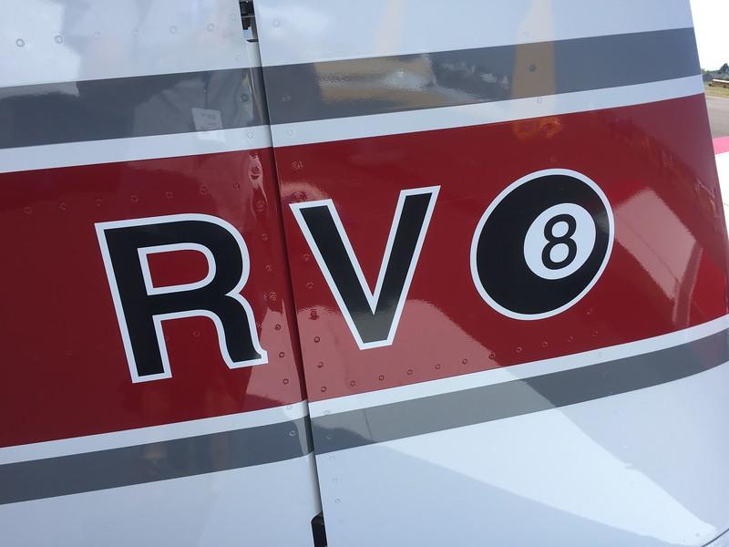 Nice RV 8 ball tail art.