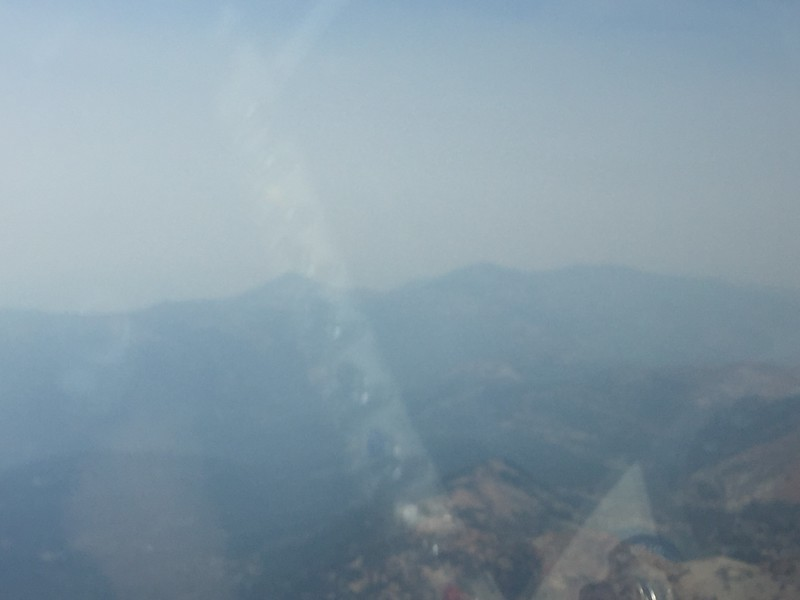 Really bad smoke everywhere from the west. At one point I could hardly see the ground or the horizon.