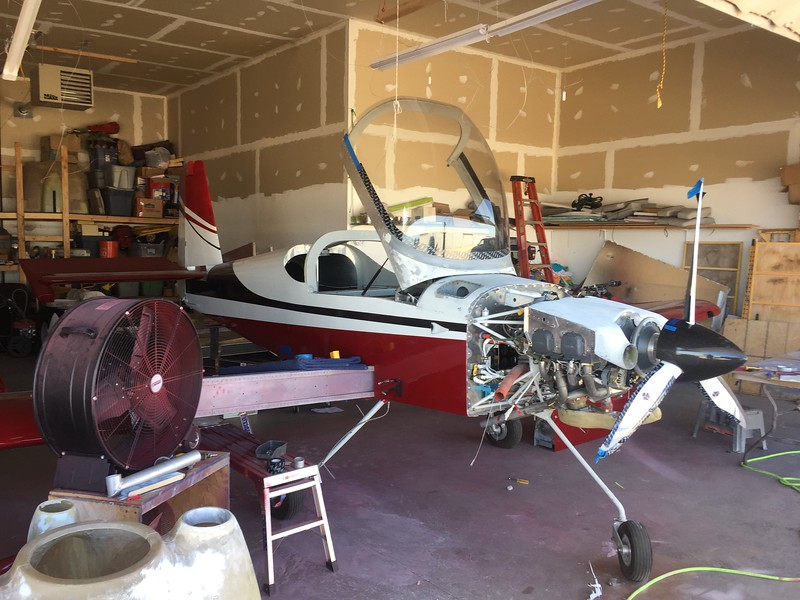 Rockwood Shepard's RV-9A project at Caldwell, Idaho. We met up and had lunch. He's getting pretty close to finishing it up.