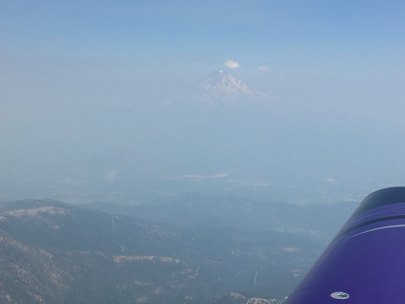Mt. Shasta off in the distance. The skies were very, very smoky from some wildfires.